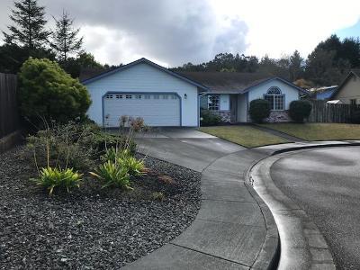 Eureka Single Family Home For Sale: 2480 Matthew Circle