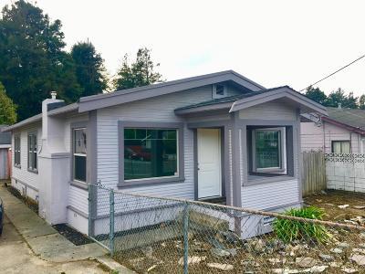 Eureka Single Family Home For Sale: 1740 Myrtle Avenue