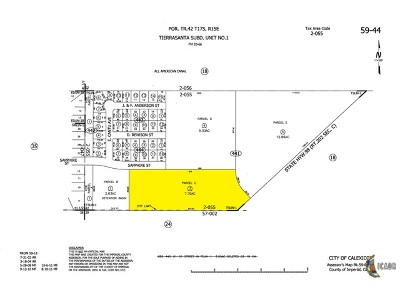 Calexico Residential Lots & Land For Sale: Land/7.79 Ac/Res Acreage