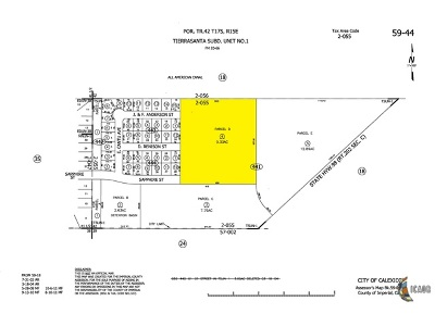 Calexico Residential Lots & Land For Sale: Land/9.33 Ac/Res Acreage