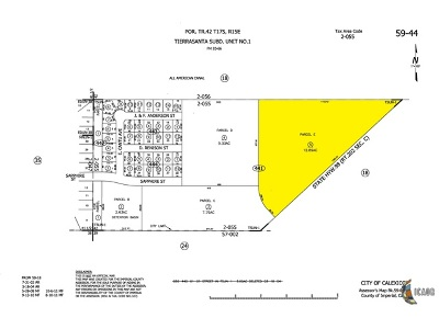 Calexico Residential Lots & Land For Sale: Land/12.89 Ac/Res Acreage