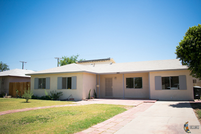 Brawley Single Family Home For Sale: 282 W D St