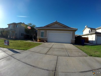 Imperial Single Family Home Contingent: 272 W Cancun Dr