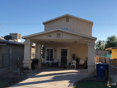 Brawley Single Family Home For Sale: 1038 H St