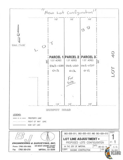 Imperial Residential Lots & Land For Sale: 630 W Murphy Rd