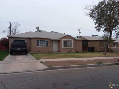 El Centro Single Family Home For Sale: 1007 Oleander Ave