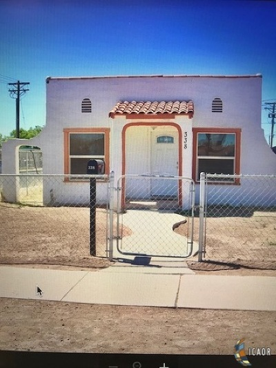 El Centro Single Family Home For Sale: 338 N 12th St