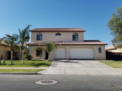 El Centro Single Family Home For Sale: 1202 Manzanita Dr