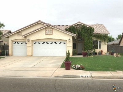 Brawley Single Family Home For Sale: 847 Santillan St