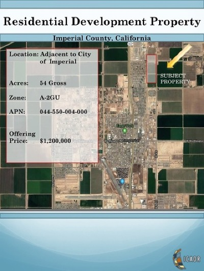 Imperial Residential Lots & Land For Sale: 310 Neckel Rd