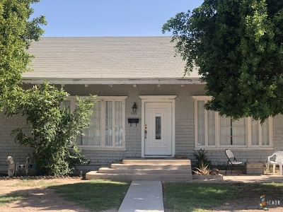 Brawley Single Family Home For Sale: 366 Ea K St
