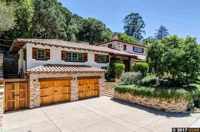 Orinda Single Family Home For Sale: 136 Manzanita Dr