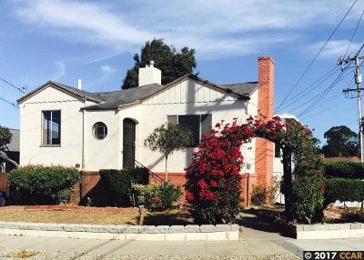 El Cerrito Single Family Home For Sale: 5919 Charles Avenue