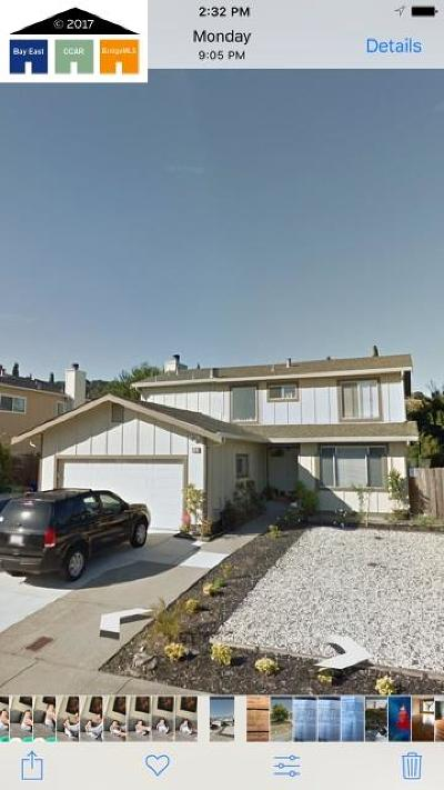 Hercules Single Family Home For Sale: 224 Oriole Court