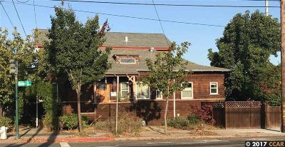 Alameda Single Family Home Active-Short Sale: 1801 Grand St