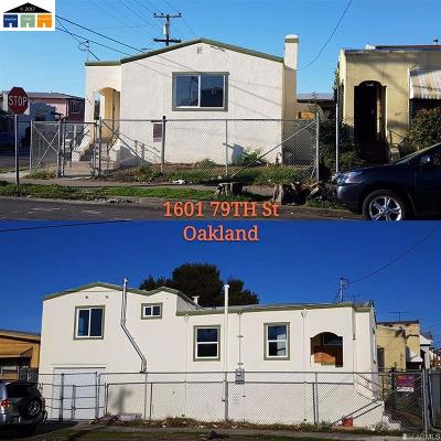 Oakland Single Family Home New: 1601 E 79th Ave
