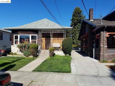 Oakland CA Single Family Home New: $950,000