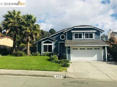 Pinole Single Family Home For Sale: 597 Marlesta Rd
