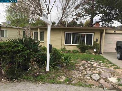 El Sobrante Single Family Home For Sale: 4653 Canyon Rd