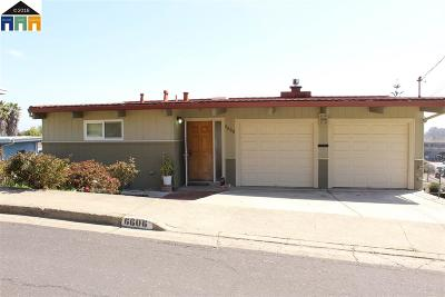 El Cerrito Single Family Home For Sale: 6606 Hagen Blvd.