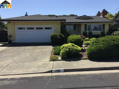 Pinole Single Family Home Pending Show For Backups: 1301 Belfair