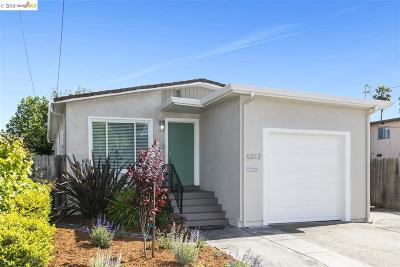 El Cerrito Single Family Home For Sale: 5312 School St