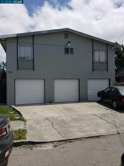 Richmond Multi Family Home Price Change: 772 5th St