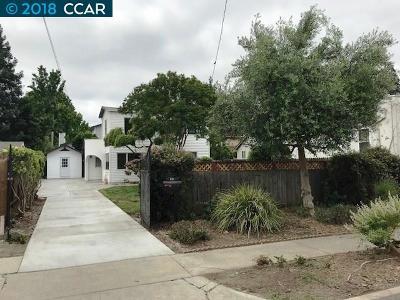 Martinez Single Family Home For Sale: 612 E Street