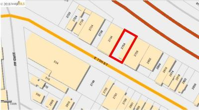 Oakland Residential Lots & Land For Sale: 2754 E 7th St