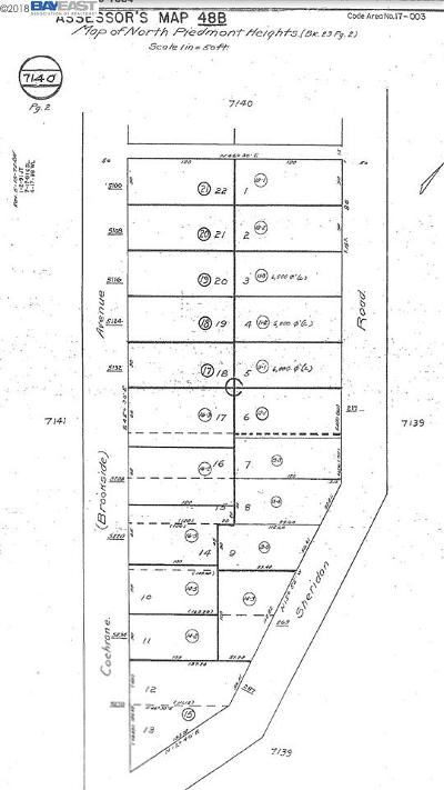 Oakland Residential Lots & Land For Sale: Sheridan Rd