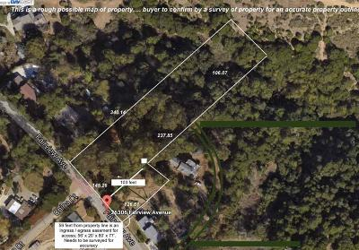 Castro Valley Residential Lots & Land For Sale: 26306 Fairview Ave