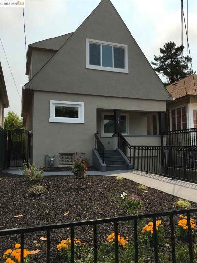 Oakland Single Family Home New: 715 Apgar St