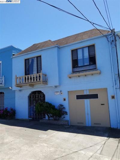 San Francisco Single Family Home New: 3627 Ortega St