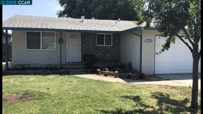 Antioch Single Family Home Price Change: 1512 Jacobsen Street
