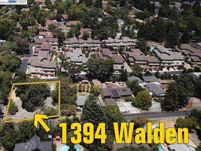 Walnut Creek Residential Lots & Land Pending Show For Backups: 1394 Walden Rd