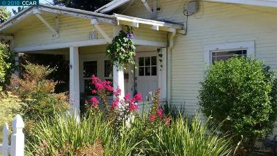 Martinez Single Family Home Price Change: 1825 Estudillo St