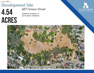 Oakland Residential Lots & Land For Sale: 6871 Simson Street
