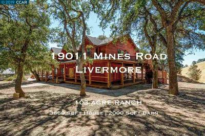 Livermore Single Family Home For Sale: 19011 Mines Rd