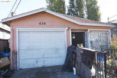 Oakland, Berkeley, Emeryville, Hayward, San Leandro, San Francisco, Alameda, Richmond Single Family Home For Sale: 636 2nd St