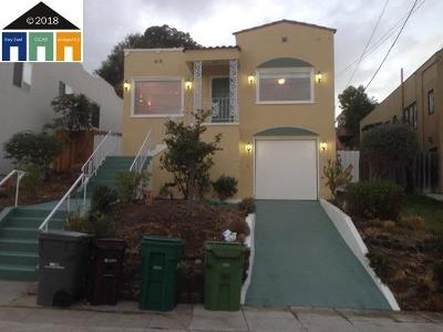 Oakland Single Family Home For Sale: 2701 Maxwell Ave