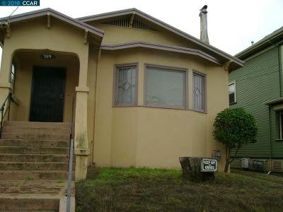 Oakland Single Family Home For Sale: 709 63rd Street