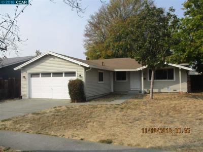 Concord CA Single Family Home Back On Market: $540,500
