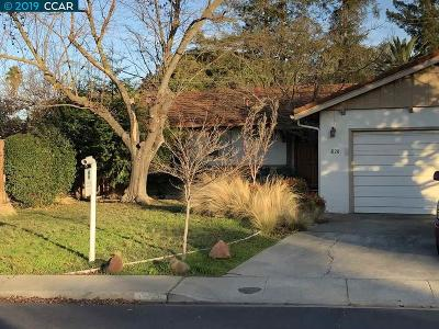 Concord Single Family Home Price Change: 1828 Baldwin Dr
