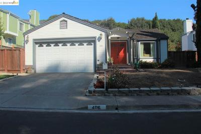 Pinole Single Family Home For Sale: 406 Roble