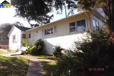El Sobrante Single Family Home Active-Reo: 3901 Hillcrest Rd