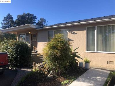 El Sobrante Single Family Home Pending Show For Backups: 4271 Santa Rita Rd