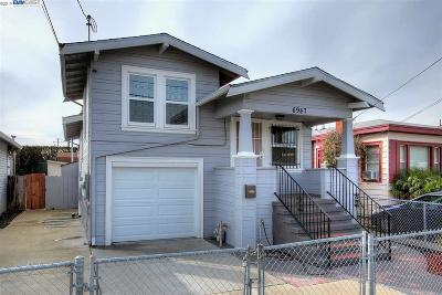Oakland Single Family Home For Sale: 6947 Halliday Ave
