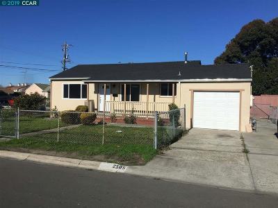 San Pablo Single Family Home Pending: 2505 Clare St