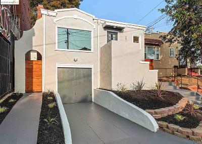 Oakland Single Family Home New: 2728 Macarthur Blvd