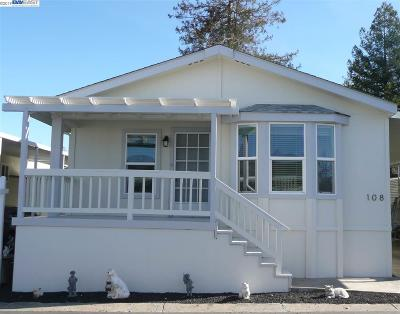 Pleasanton Mobile Home For Sale: 3263 Vineyard Ave., #108